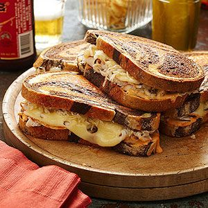 Rachel Sandwiches -  trade the traditional corned beef for thin-sliced turkey in this twist on a classic Reuben.