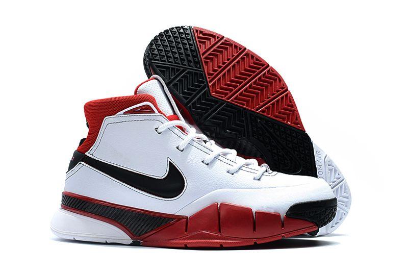 """4f64a277fc18 Nike Kobe 1 Protro """"All-Star"""" White Black-Varsity Red AQ2728-102 ..."""