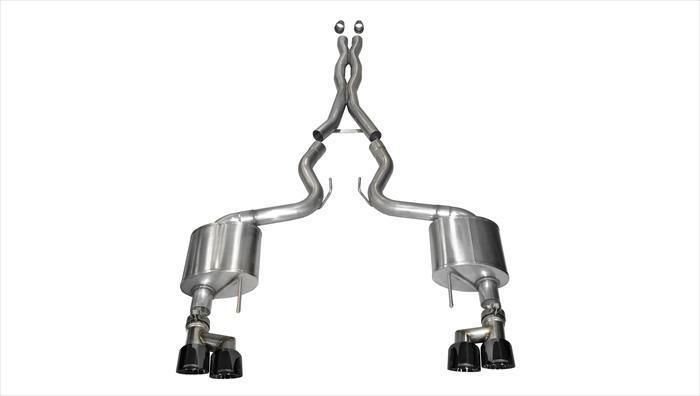 Corsa 3 Xtreme Cat Back Exhaust 2015 16 17 18 Mustang Gt Quad Black 14335blk Ford Mustang Gt Ford Mustang Mustang Gt