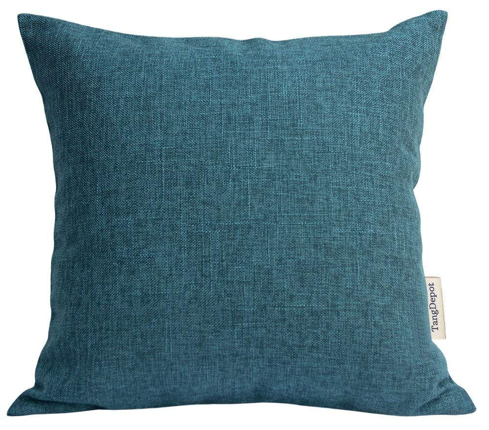 Amazon Com Tangdepot Heavy Lined Linen Cushion Cover Throw