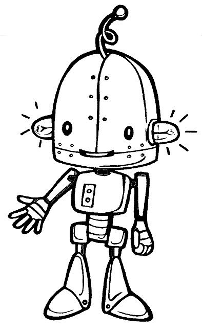 Robots With Ear Lights  Robots Coloring Pages  Pinterest  Robot
