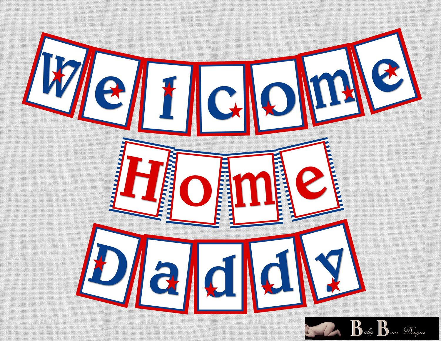 image regarding Printable Welcome Home Banner referred to as Army/Patriotic Welcome house/Homecoming Banner- Printable