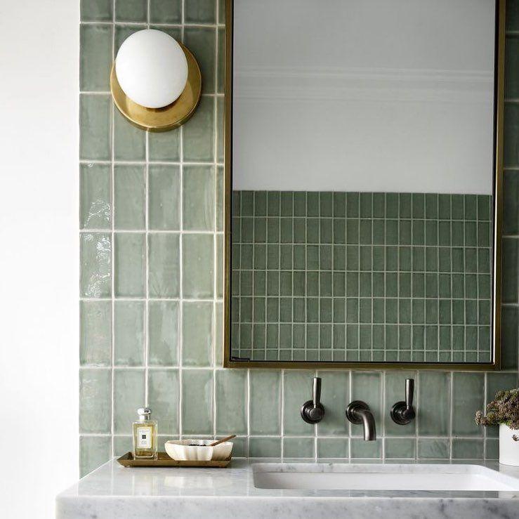 Pin On Half Bath Green grey bathroom design ideas