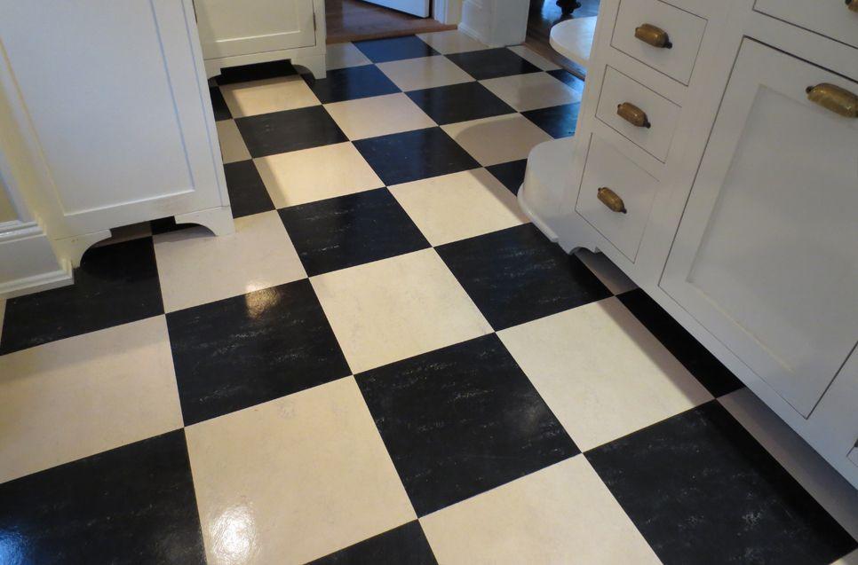 Aronson S Floor Covering Residential Linoleum Tile Installation Black And White Linoleum Tiles Installed On