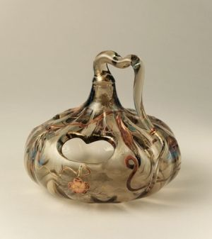 Emile Gallé (French, 1846–1904) Gourd Vase Ca 1900 by Jeannelyn