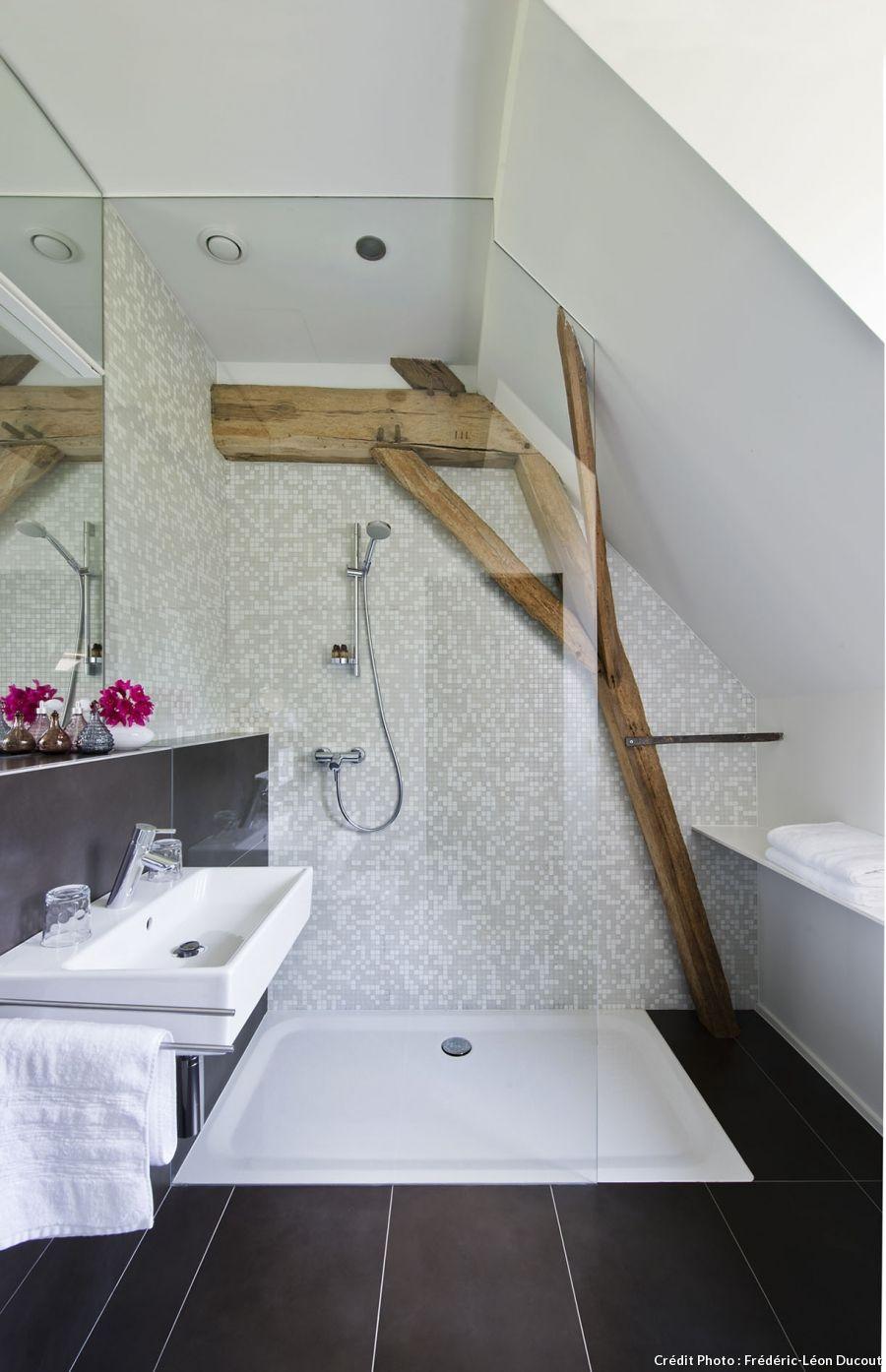 Une longère dans la campagne belge | salle de bains