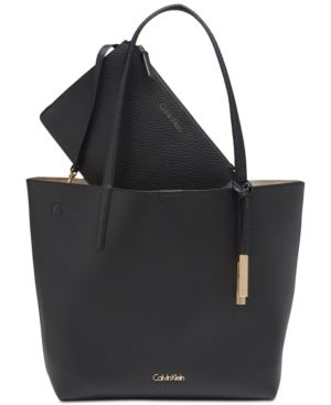 743fef8591f Calvin Klein Key Item Medium Tote with Pouch - Black   Products ...