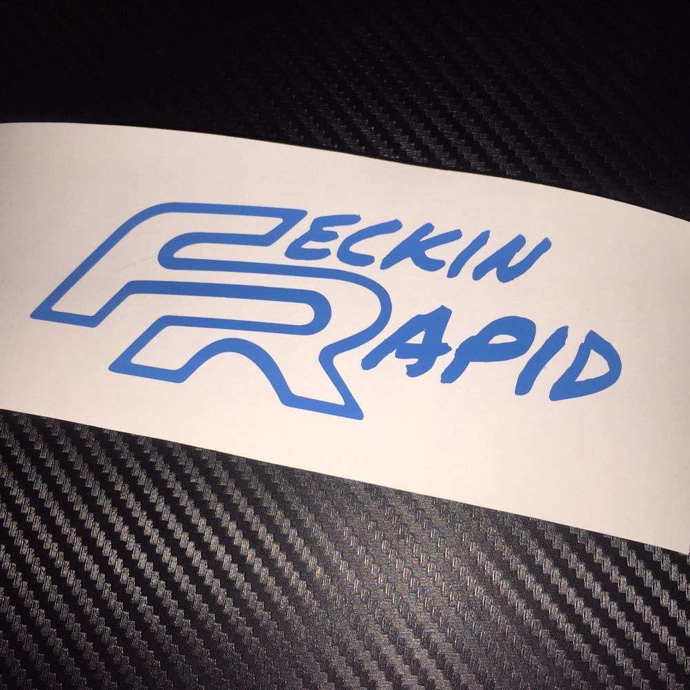 Blue Feckin Rapid Car Sticker Decal Seat Fr Cupra Leon Vag Car Stickers Stickers Decals [ 1000 x 1000 Pixel ]