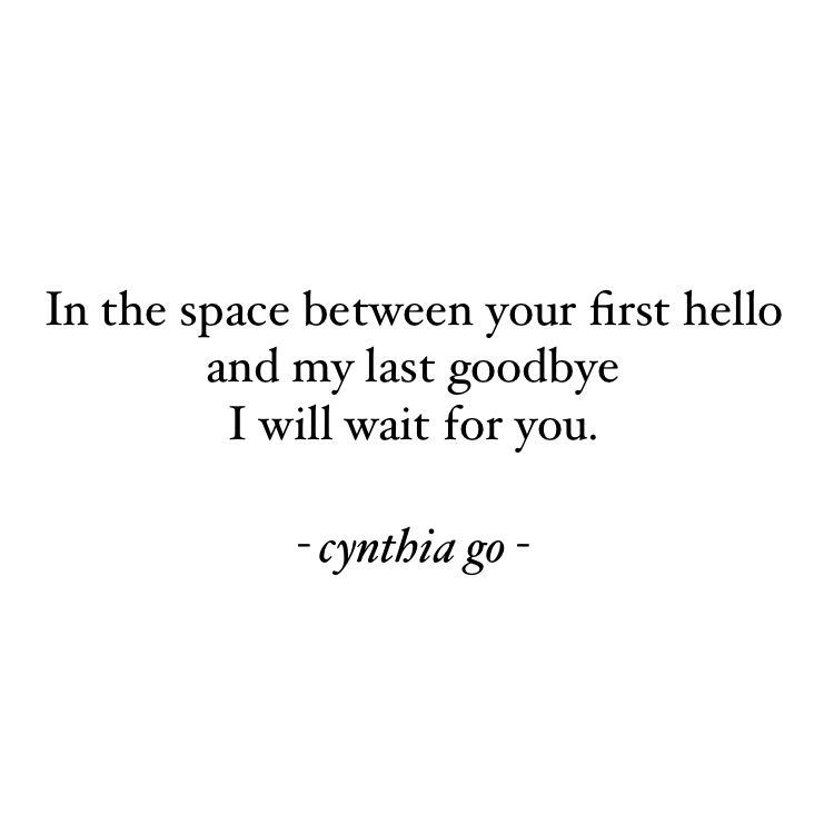 I will wait for you | Go for it quotes, Waiting for you ...