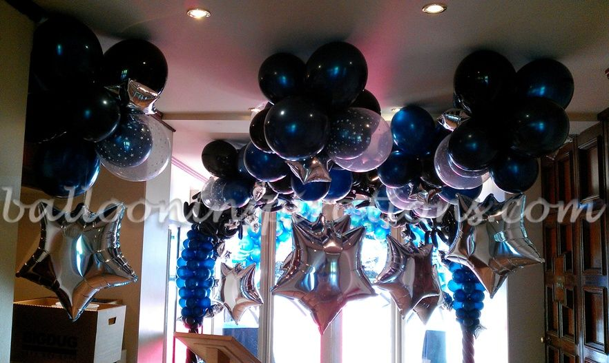 Prom decoration images starry night themed prom party for How can prom venues be decorated