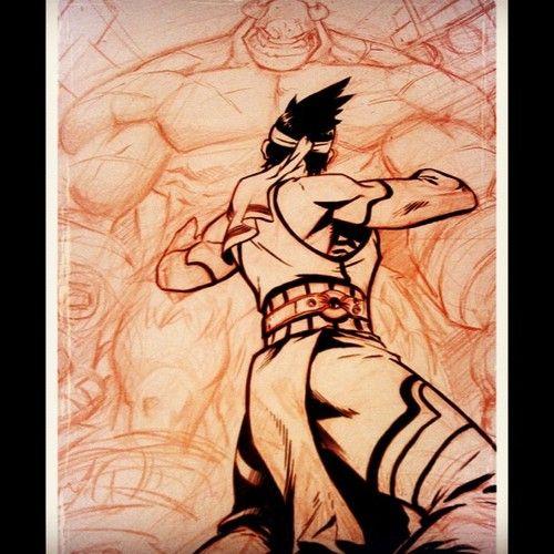20min cool down inking. Thanks for the pen Bart! #battleberzerkerbalto #Comics #art #fantasy #brushpen (Taken with Instagram)