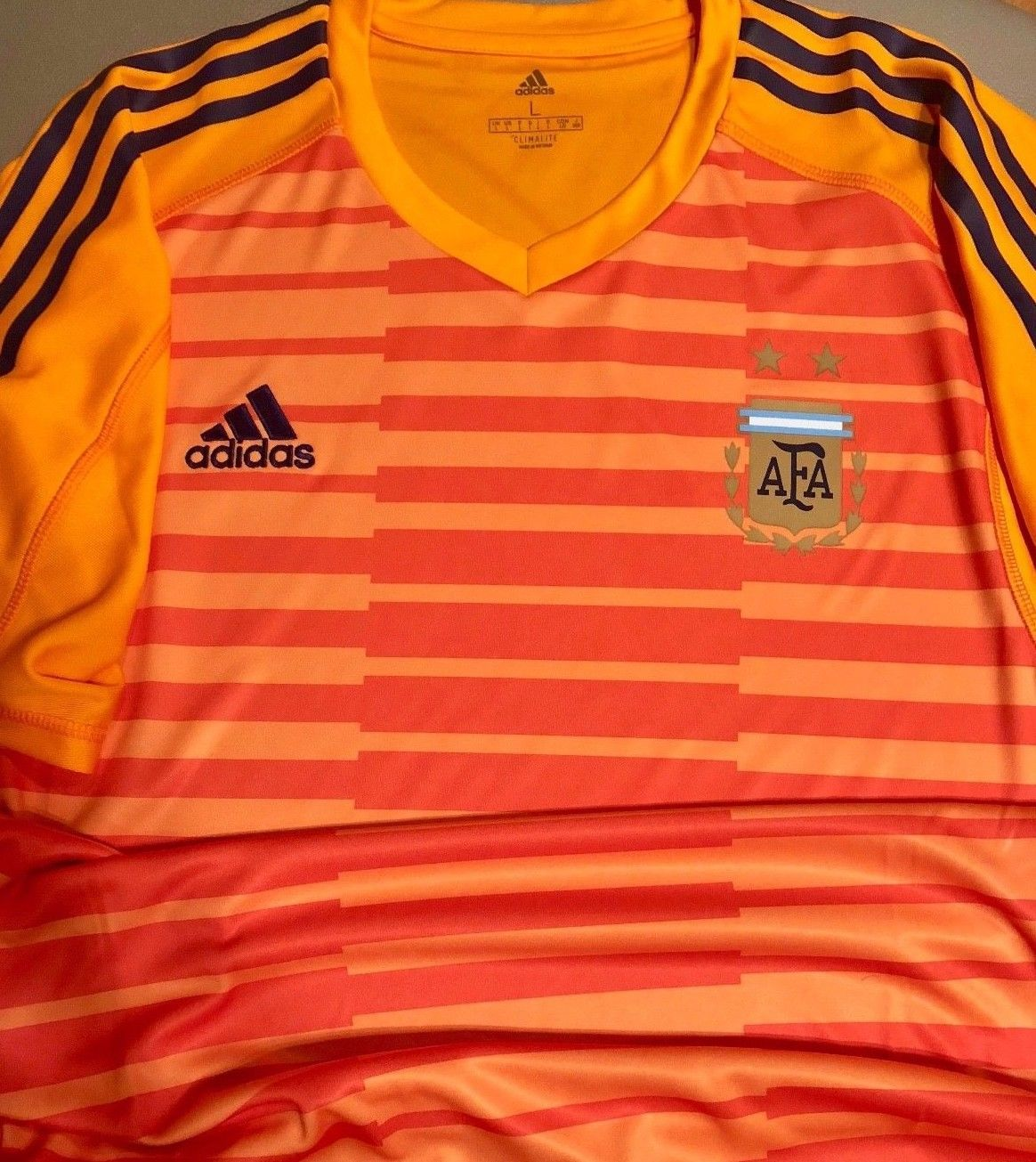 Fifa World Cup 2018 Russia Adidas Afa Argentina Xx Large 2xl Fashion Big Size T Shirt Goalkeeper Jersey Discount Price