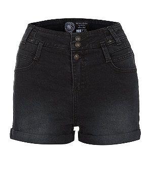 Black (Black) Black High Waisted Denim Shorts | 288522901 | New Look