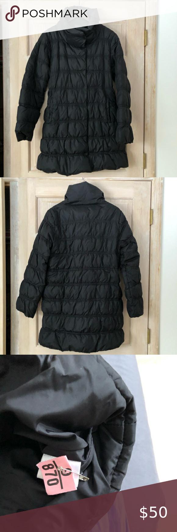 Eileen Fisher Black Down Jacket Size Small Long Parka Jacket Clothes Design Eileen Fisher Jacket [ 1740 x 580 Pixel ]