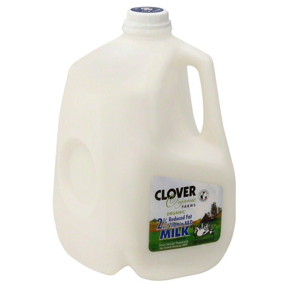 Clover Organic Farms 2 Milk 1gal In 2021 Organic Milk Milk Organic Farming