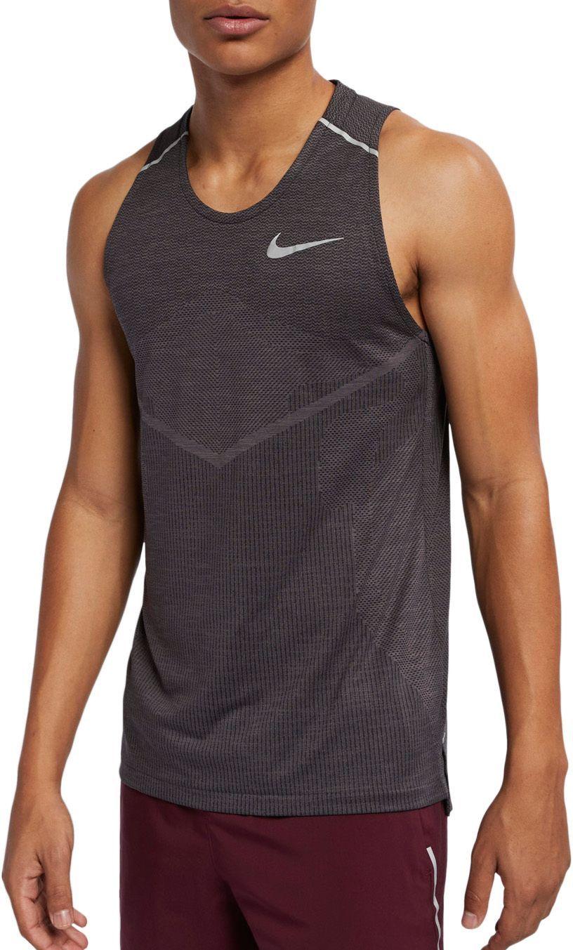 Nike Men's TechKnit Ultra Running Tank Top, Size Small