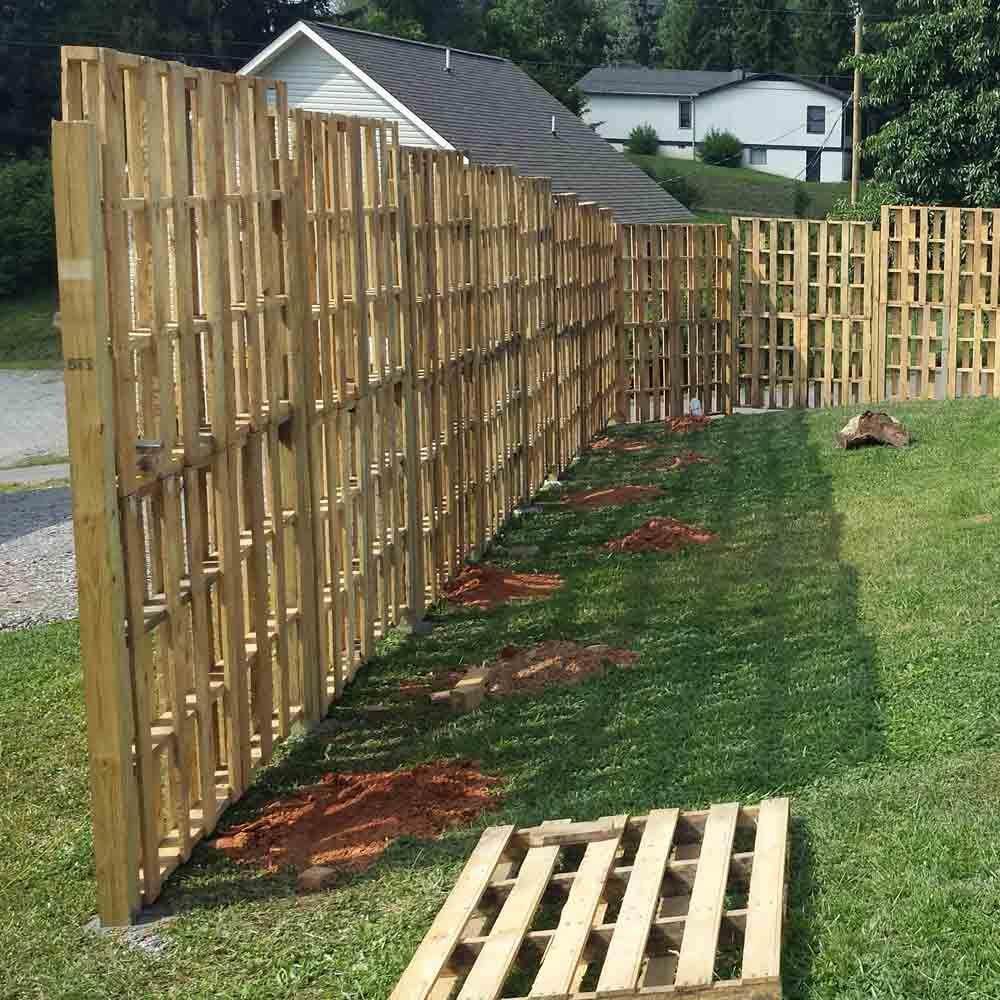 Privacy Pallet Wood Fence Wood Pallet Fence Pallet Fence Diy