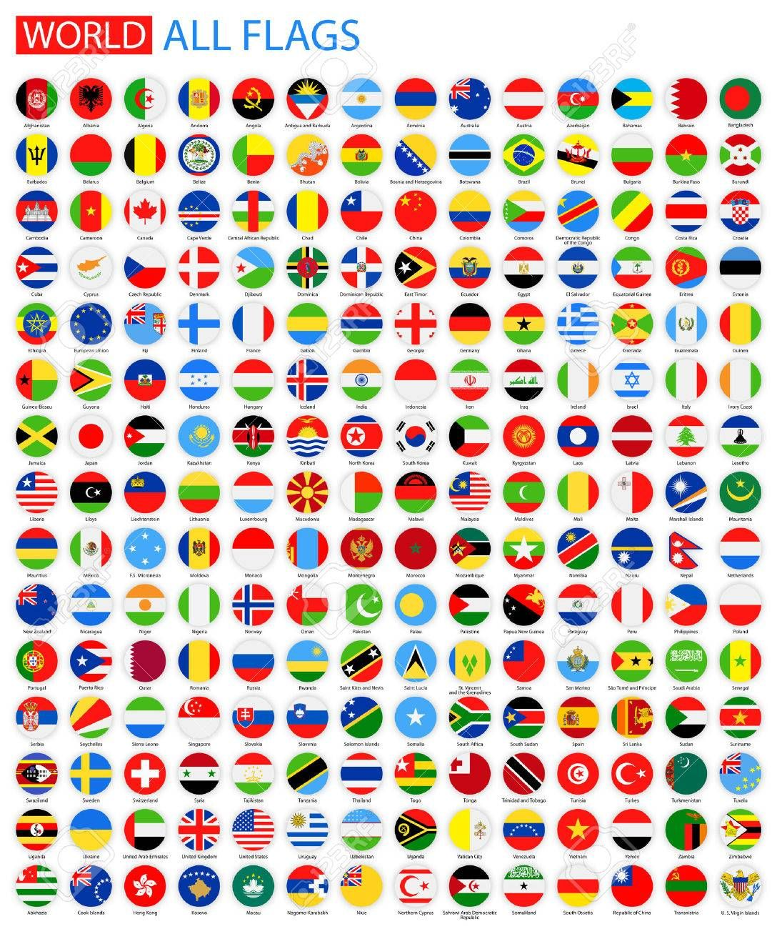 Flat Round All World Vector Flags Vector Collection Of Flag Icons Flag Icon Flag Image