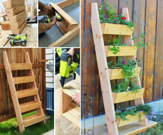 Diy Ladder Planter Container Gardening Vegetables Herb 400 x 300