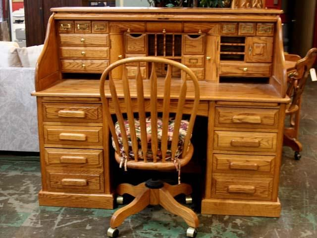 Oak Roll Top Desk Amp Chair I D Also Have A Matching 2