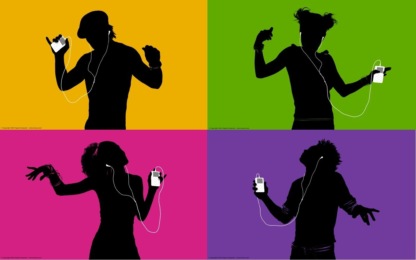 Apple complete ipod silhouette ad campaign compilation