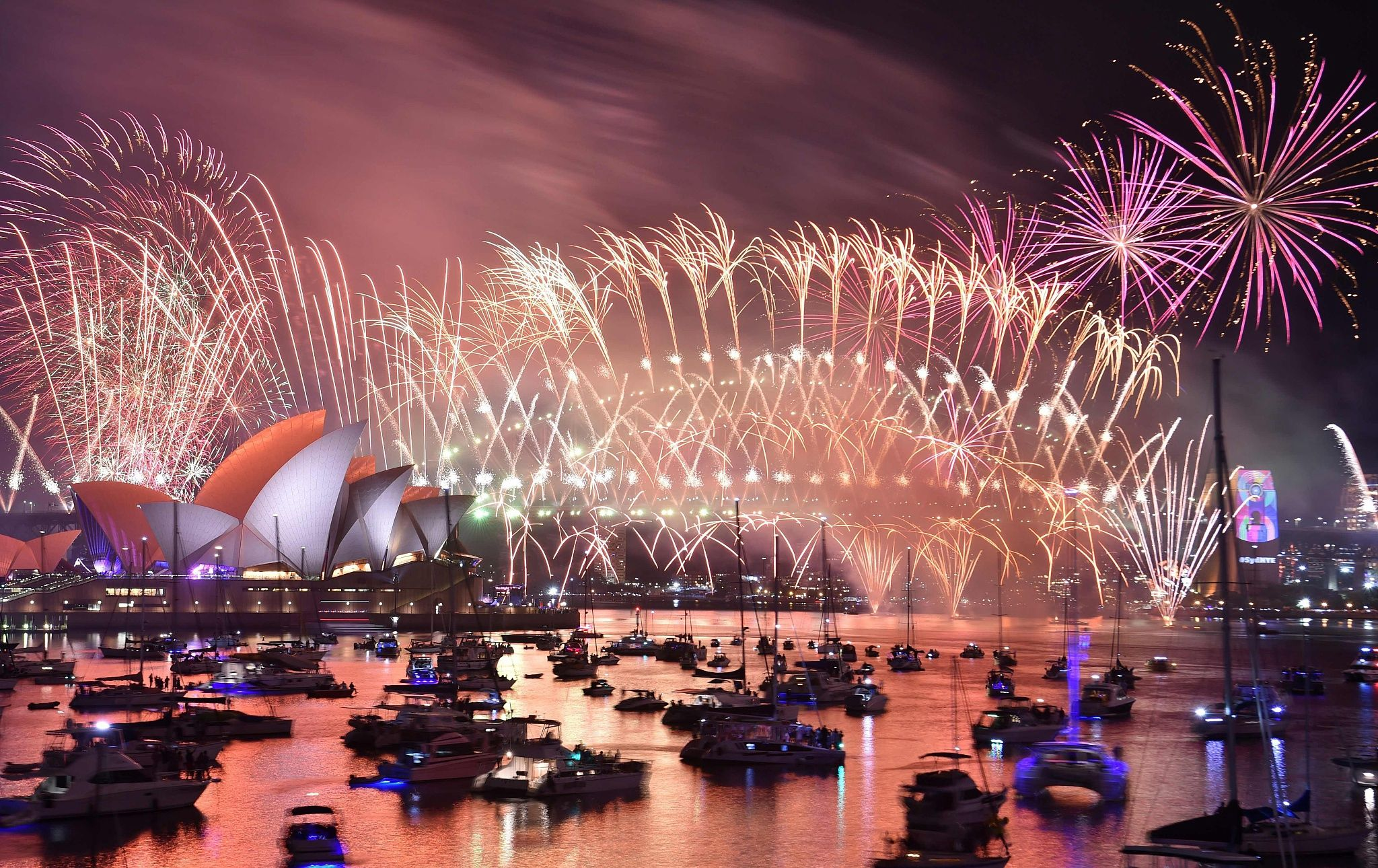 A Spectacular Firework Show Lit Up The Night Sky In Sydney As