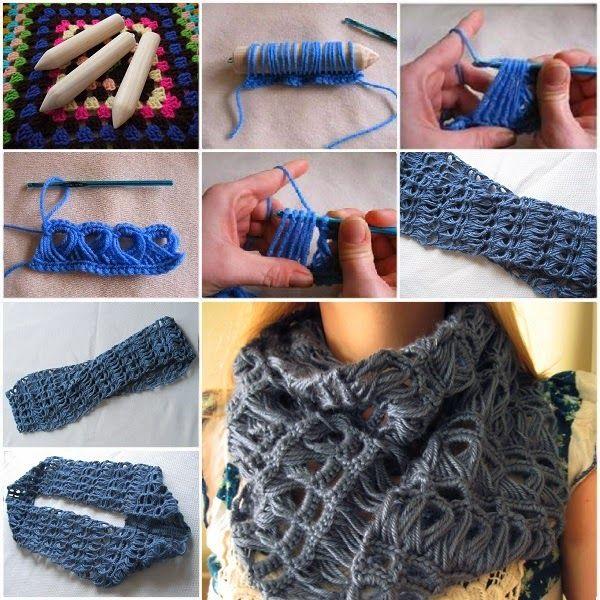 DIY ... Lace Scarf | crochet bufanda infinita | Pinterest | Bufandas ...