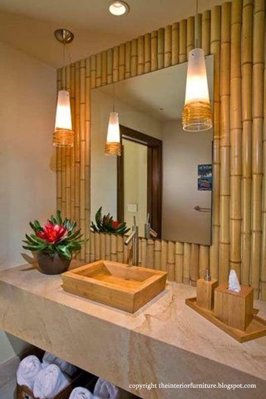 Bambus Badmöbel sorgen für eine Zen-Atmosphäre im modernen