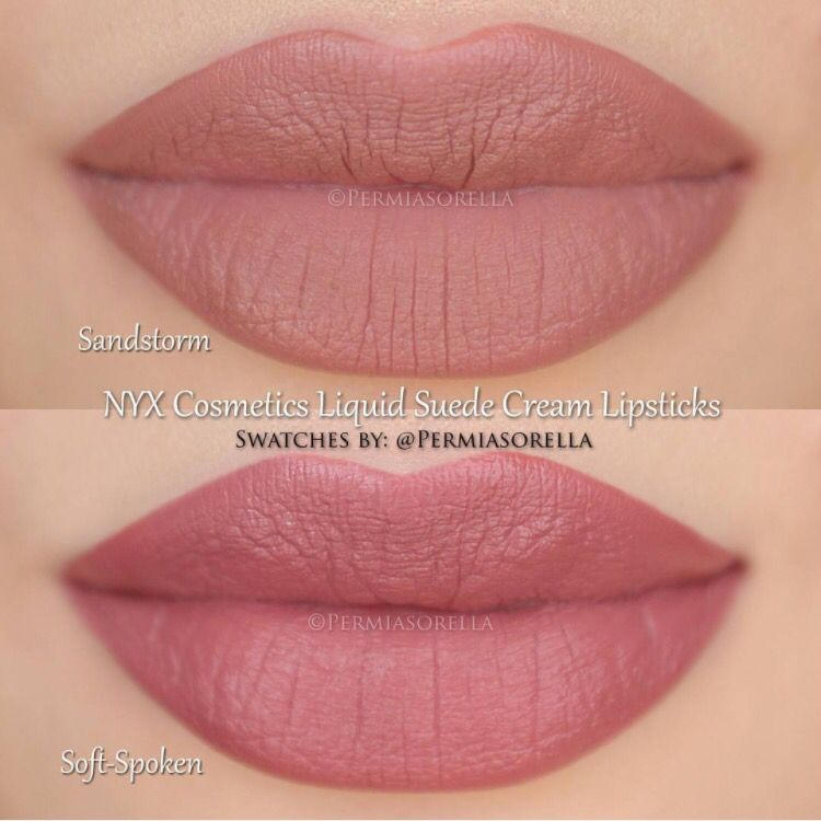 NYX Liquid Suede : one of these lipstick colors (sandstorm or soft ...