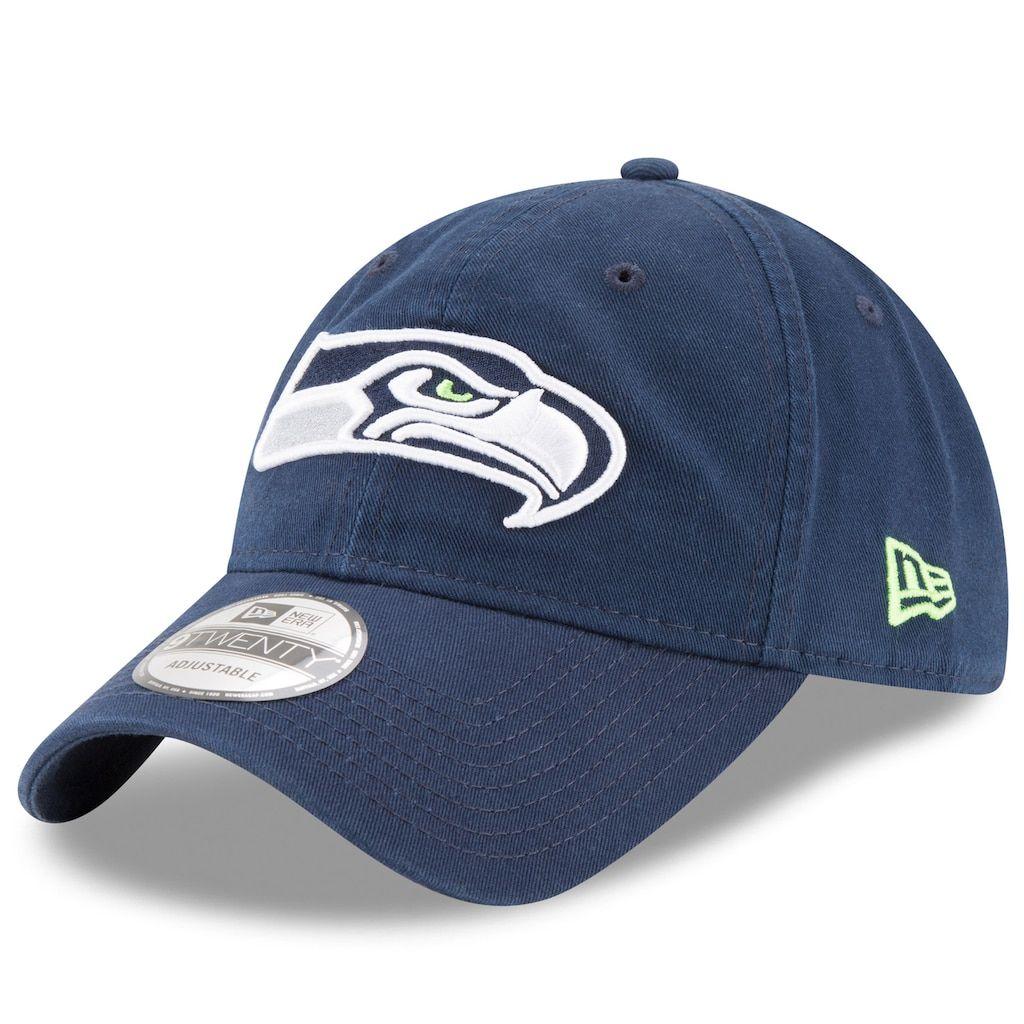 low priced 0fd63 58b4f Adult New Era Seattle Seahawks 9TWENTY Core Adjustable Cap, Men s, Blue  (Navy)