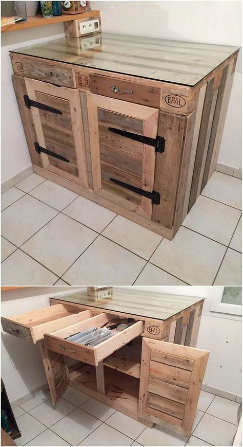 Incredible Ideas For Reusing Old Wood Pallets Wood Pallet Projects Wood Pallets Pallet Kitchen