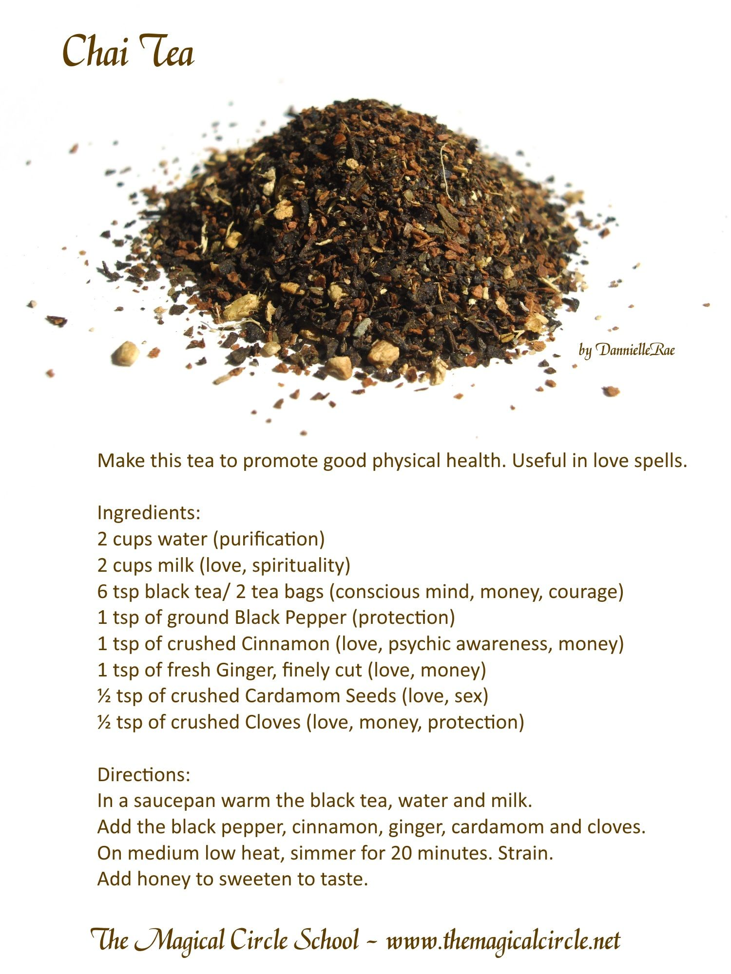 Chai Tea - Health and Love - Kitchen Witch Spell - by DannielleRae ...