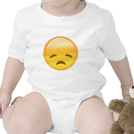 Disappointed Face Emoji Baby Bodysuit Baby Clothes Baby Creeper
