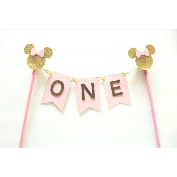 Fine Minnie Mouse Cake Topper Cake Bunting Minnie Mouse First Funny Birthday Cards Online Inifodamsfinfo