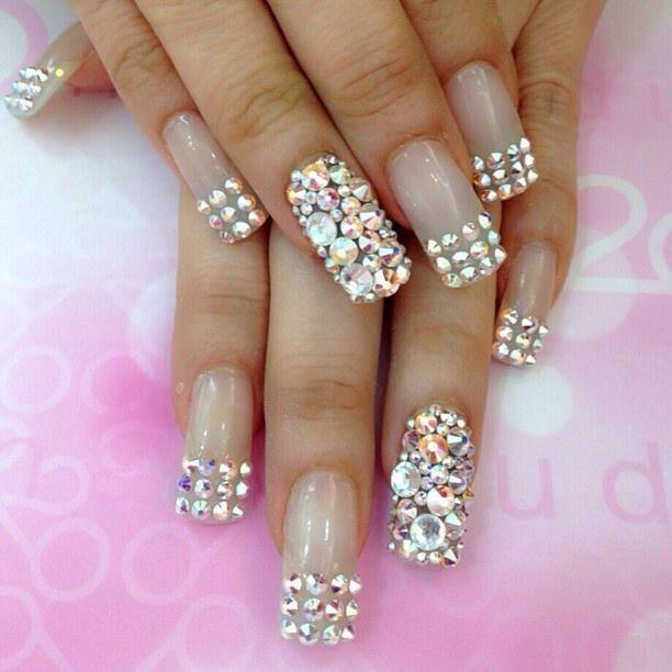 U as con pedrer a u as nail designs bling glittery for Pedreria swarovski para unas