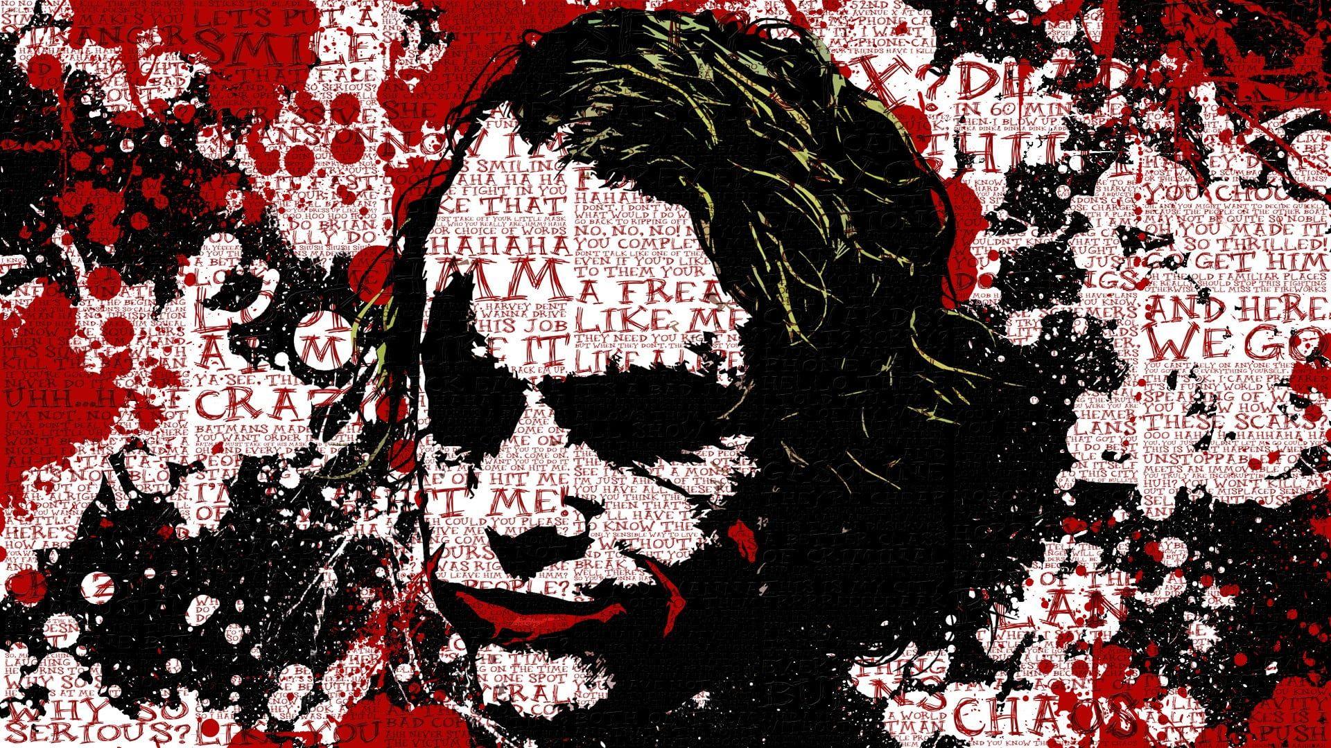 The Joker Digital Wallpaper Batman Anime Movies Joker Paint Splatter Typography The Dark Knight Di Joker Wallpapers Joker Hd Wallpapers Joker Hd Wallpaper