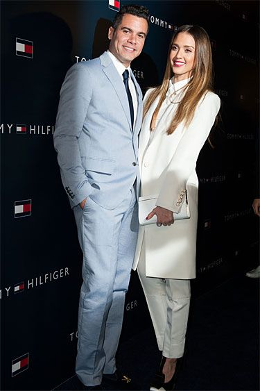 Tommy Hilfiger LA Flagship Opening - Cash Warren and Jessica Alba in Tommy Hilfiger