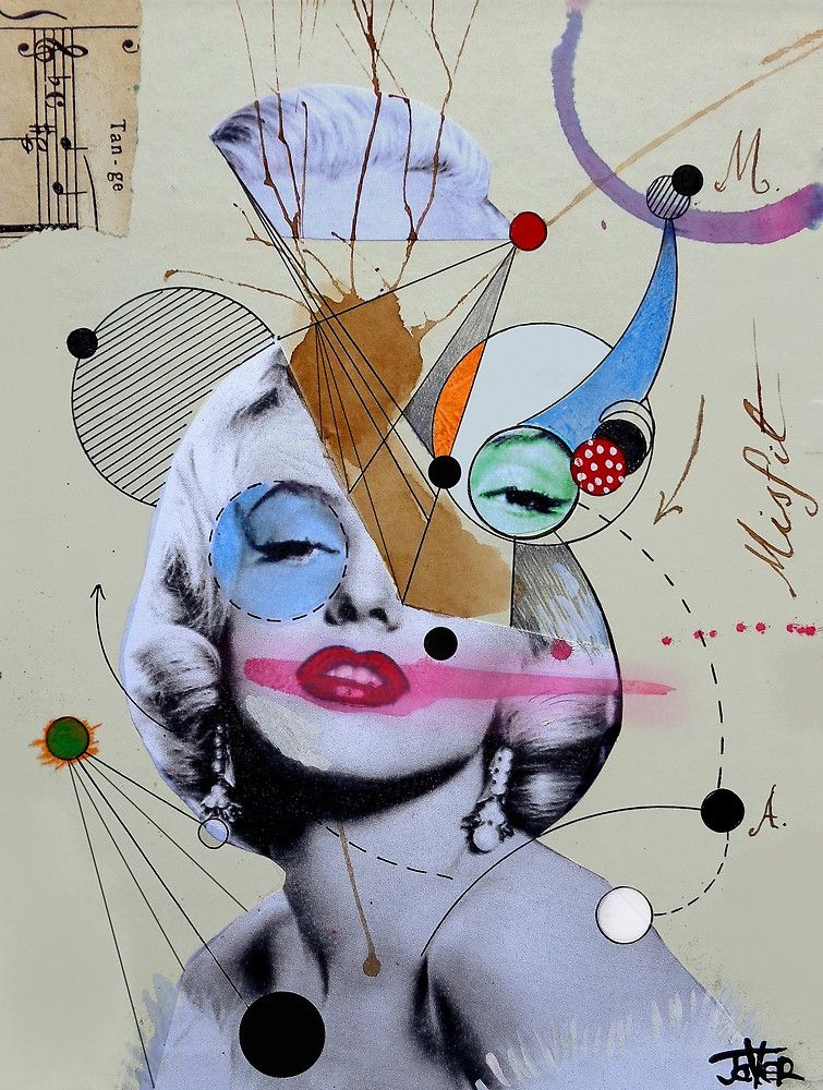 marilyn for the abstract thinker by Loui  Jover
