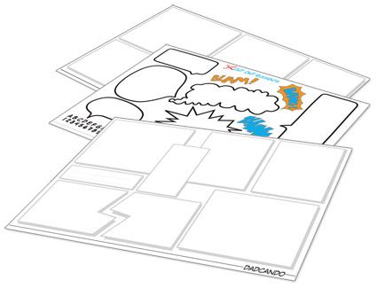 downloadable layout pages to make your own comic strips