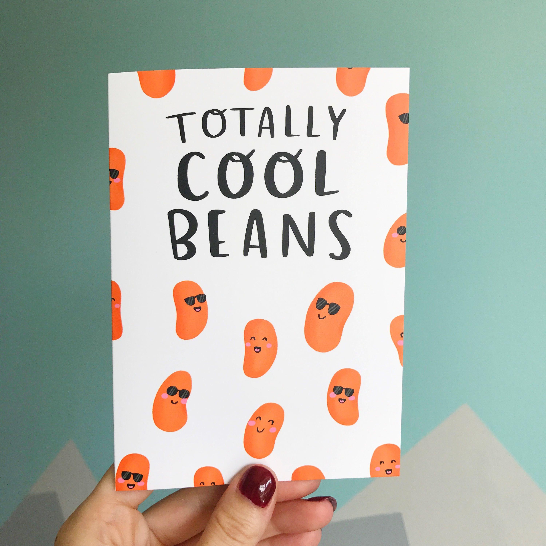 Cool Beans Birthday Greetings Card - Etsy