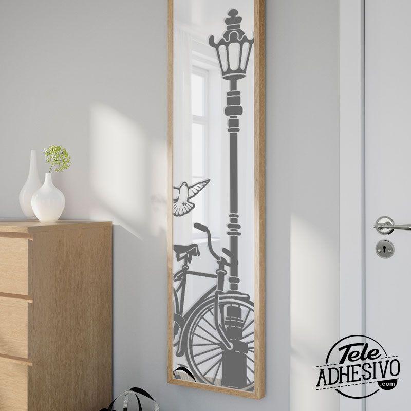 Decorar espejos con vinilo for Decoracion de espejos