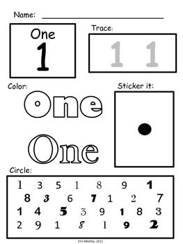 Super Simple Math Number Worksheets Numerals 0 10 Number Sense No Prep Number Worksheets Basic Math Worksheets Learning Numbers