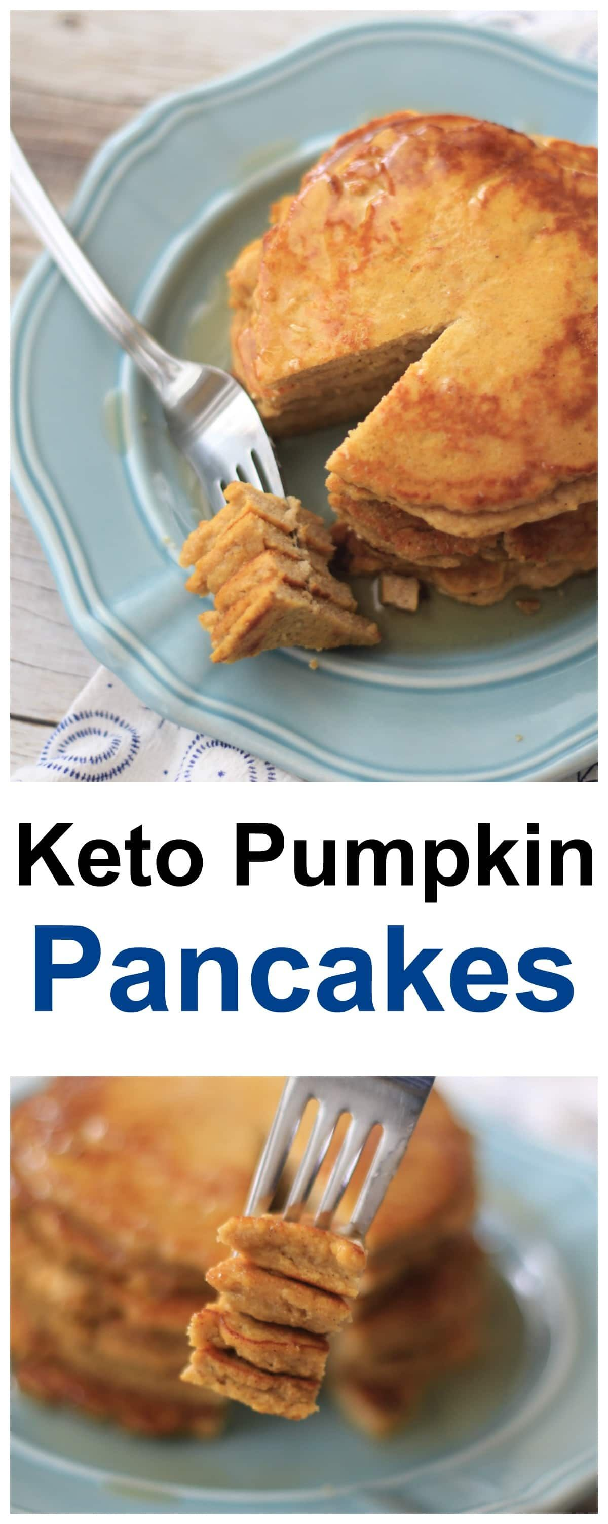 Keto Pumpkin Pancakes / Fluffy & Delicious