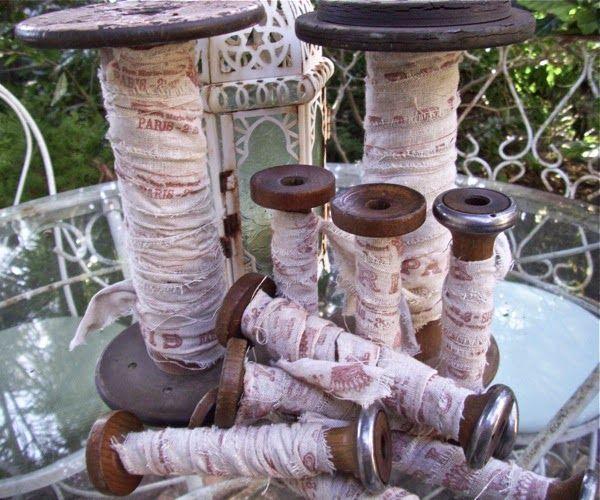 The Polka Dot Closet: Vintage Thread Spools
