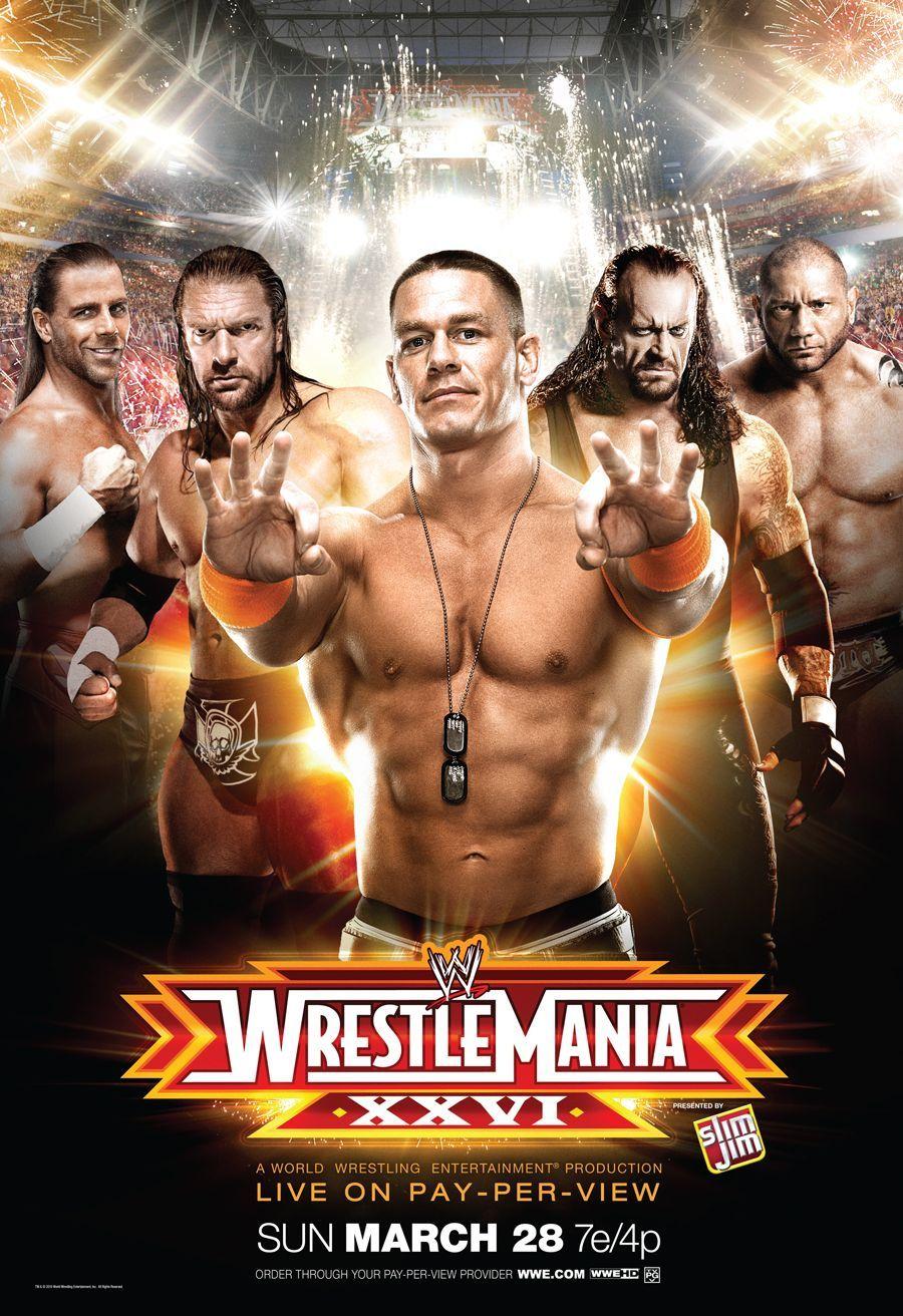 WWE WrestleMania 26 | WWE | Pinterest | WWE