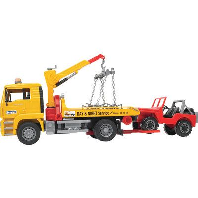Bruder Man Tow Truck With Cross Country Vehicle 1 16 Scale Model 02750 Cars Trucks Northern Tool Equipment Trucks Tow Truck Vehicles