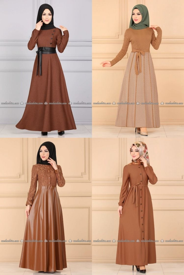 2020 Kis Modaselvim Taba Tesettur Elbise Modelleri 2 4 2020 Elbise Elbise Modelleri Moda Stilleri