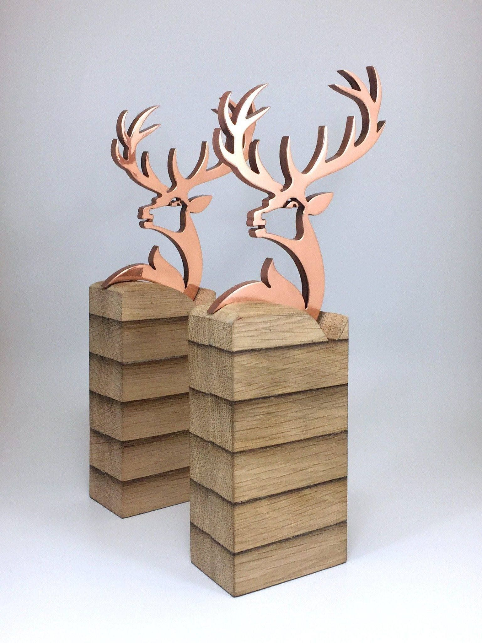 It's freezing out there! Warm up with our copper stag award commissioned for a famous Scottish Whiskey company. View more of this bespoke award via link in image. #whiskey #scotland #handmade #copper #awards #award #design #handmade #trophy #branding #bespokedesign #custommade #bespoke