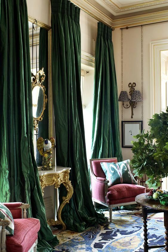 Photo of Green Silk Curtains