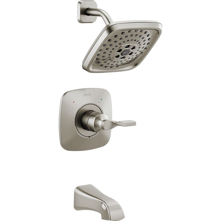 $159.00 Delta Sawyer Spotshield Brushed Nickel 1-Handle Bathtub ...